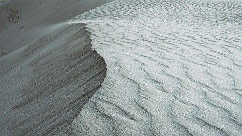The mesmerizing, wind-shaped patterns on the sand dunes at Hunder in Nubra Valley, Ladakh