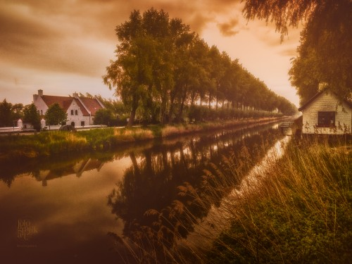 Golden Hour at Damme Canal, Belgium